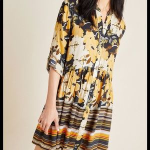 Anthropologie Bl-nk Hadley Button-Front Tunic